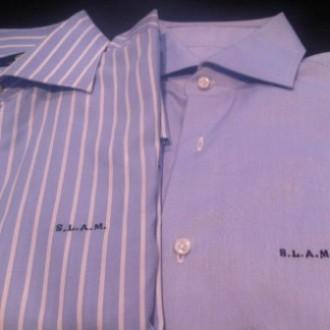 Bordado de iniciales en camisas