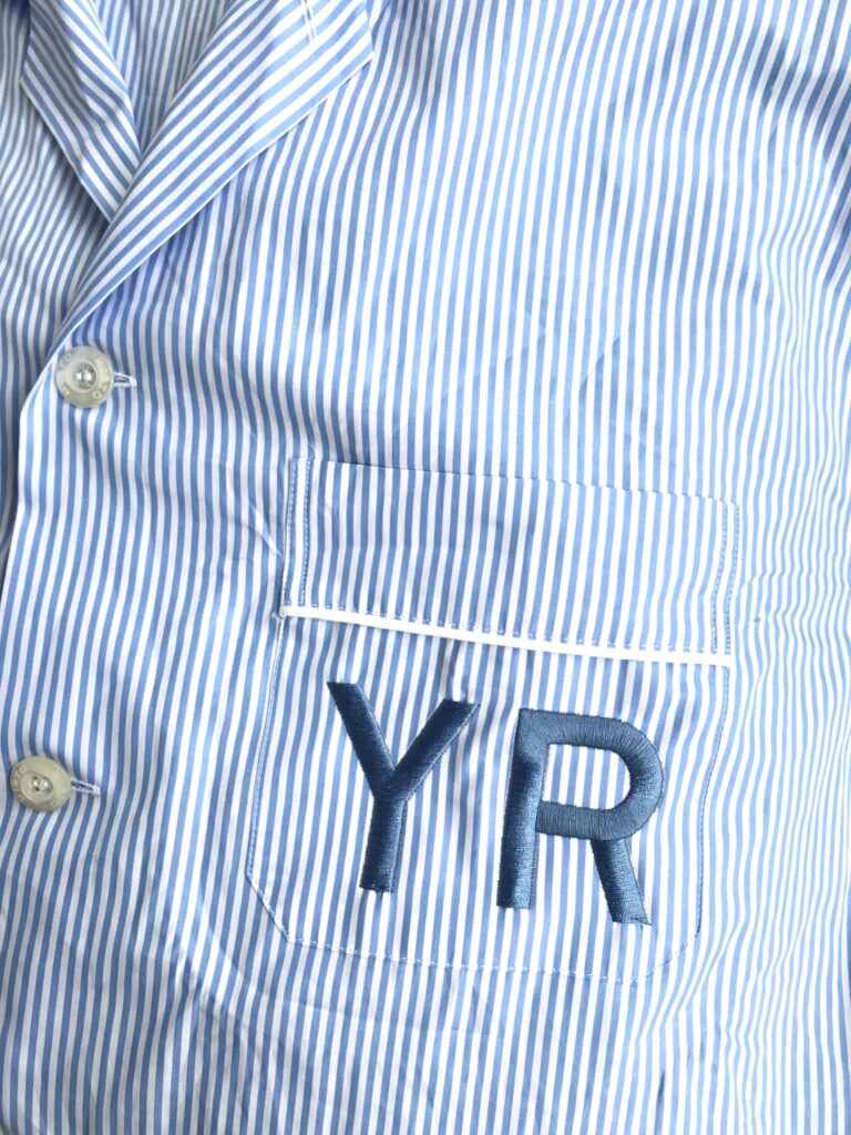 Pijama bordado con iniciales